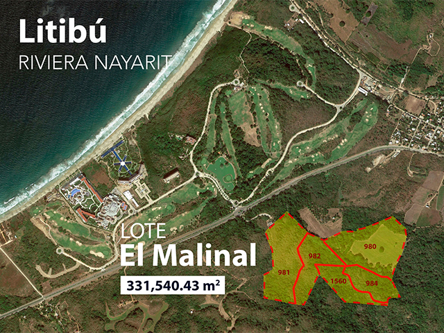 Lot El Malinal Litibú between Punta Mita and Sayulita, it has water springs