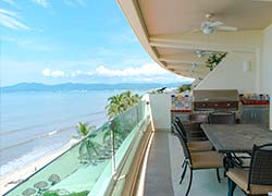 Condo A-1604 Ocean Terrace, located on 6th floor with a panoramic view from Vallarta to Punta Mita