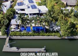 Casa Canal Nuevo Vallarta has a private dock 70 feet long and is located in the main channel