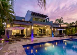 House Venados 149 El Tigre Nuevo Vallarta; surrounded by gardens and golf view