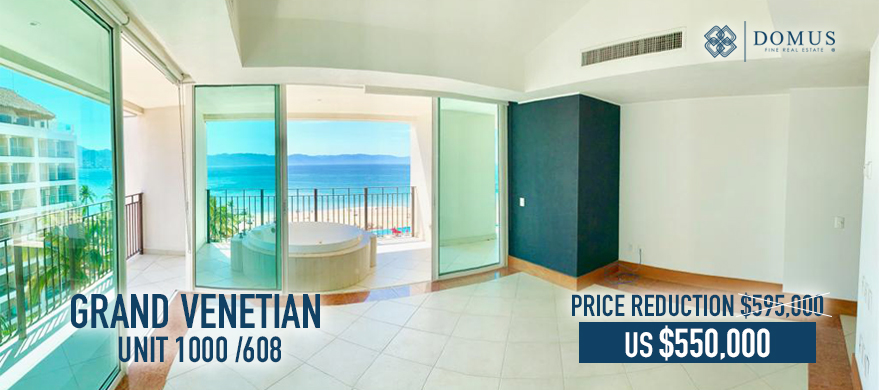 Hot deal at Grand Venetian Puerto Vallarta Unit 1000 608